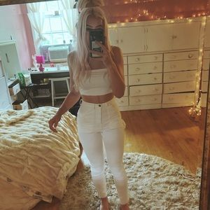 ASOS white painter jeans size 24 high waisted